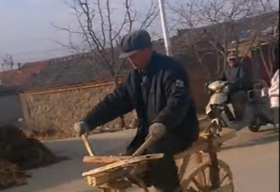 木の自転車