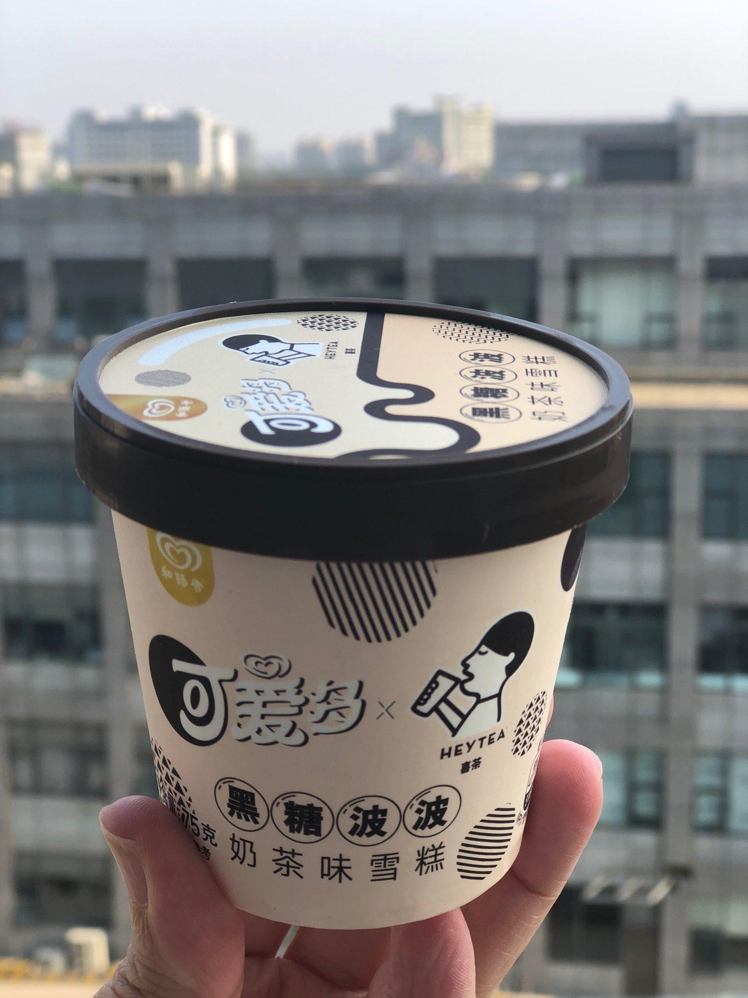 上海•新発売のカップアイス「黒糖タピオカミルクティー風味」