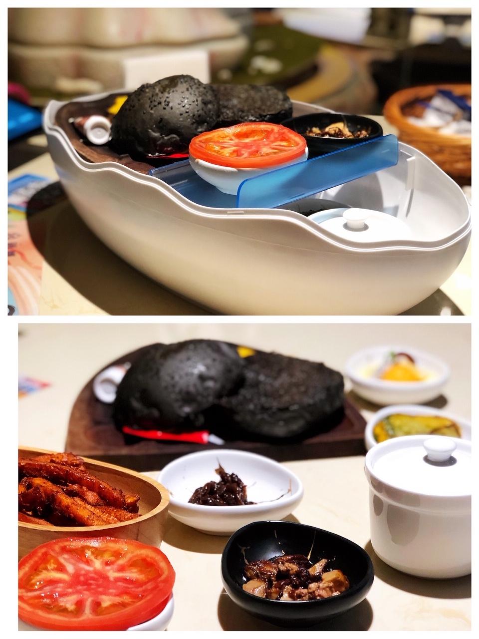 上海•タマゴの中は、「ワーキングデーのバーガーセット」