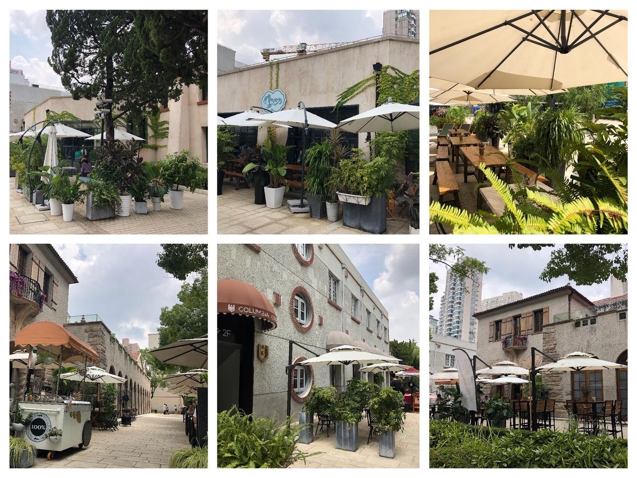 上海• カフェやレストランのテラス席も人気