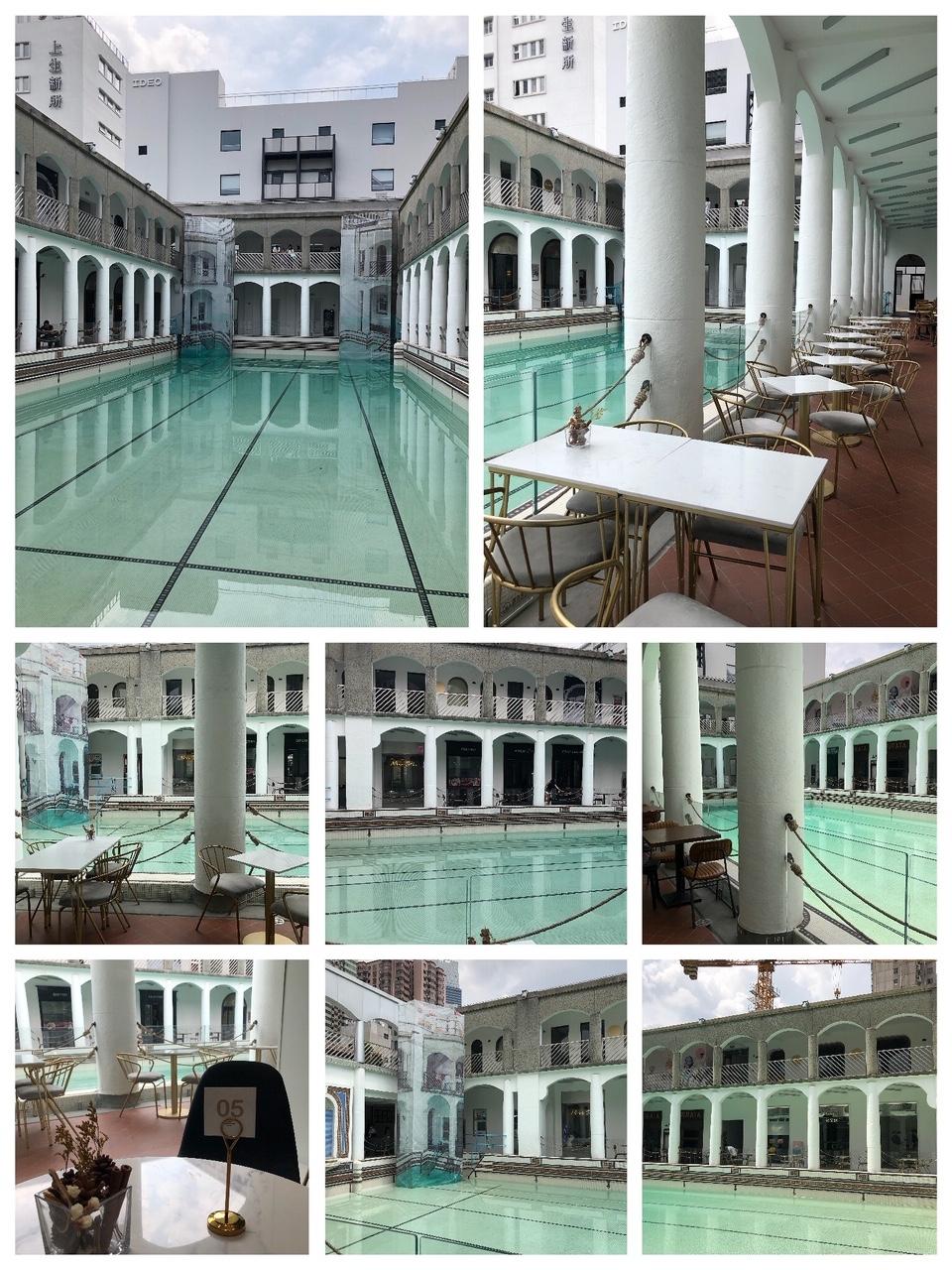 上海•見学用のプールは、鉄板の撮影スポット!