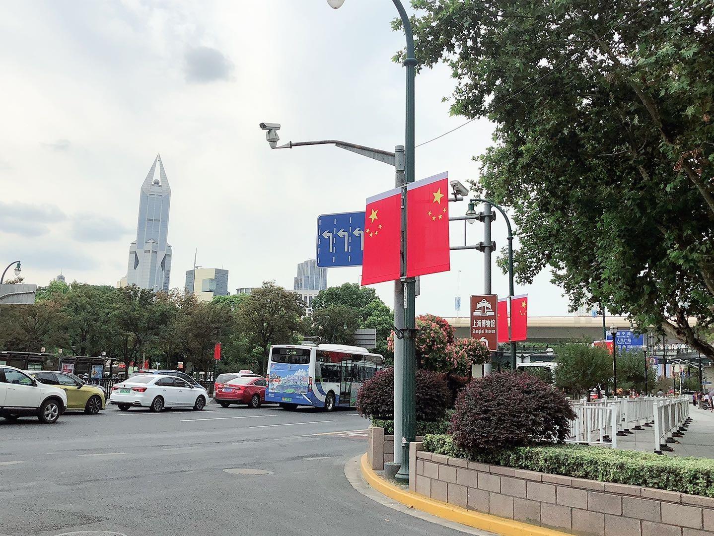 毎年恒例の景色が広がる上海の街並み