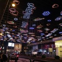 今年もさっそく開始、香港のクリスマスイルミネーション