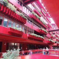フォトジェニすぎると話題のスポット・上海のTHE ROOF!やっぱり赤が好き⁉︎