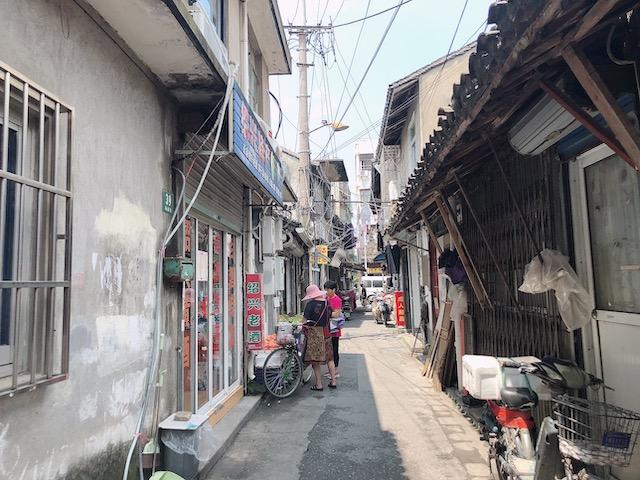 上海・郊外の古い街並み