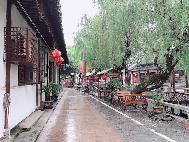 上海・練塘古鎮の街並み