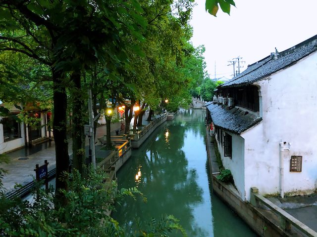 上海・練塘古鎮の美しい景観