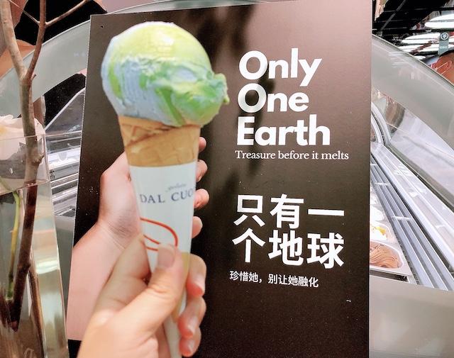 上海・SNSで話題の地球アイス